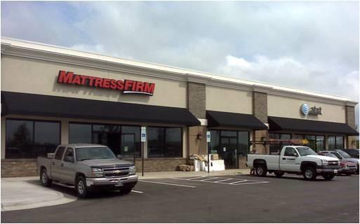 parking lot of mattress firm building