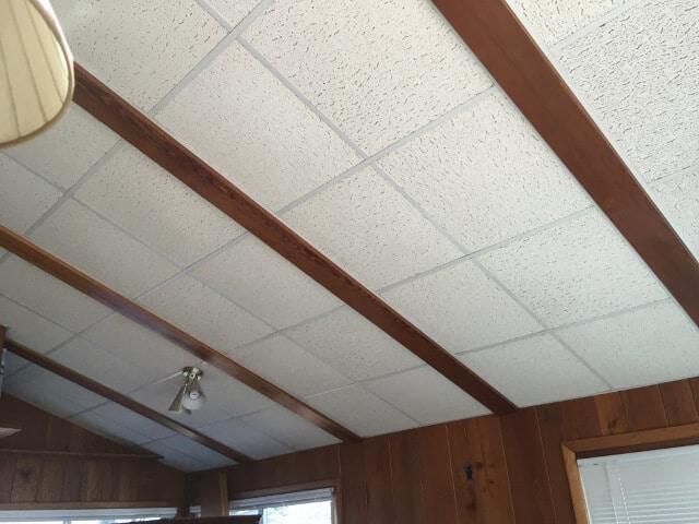a white ceiling