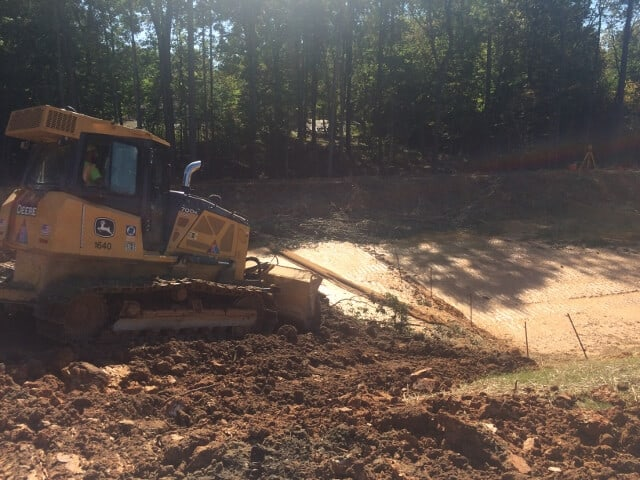 a bulldozer at work