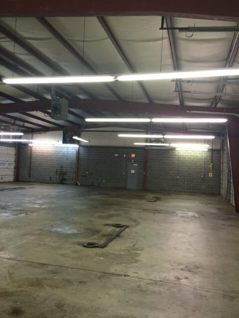 a commercial construction garage