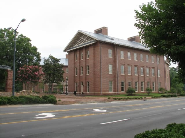 a large brown building