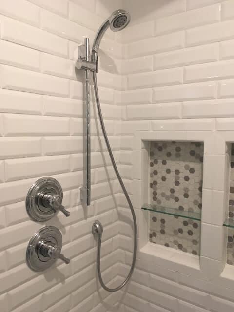 a bathroom shower